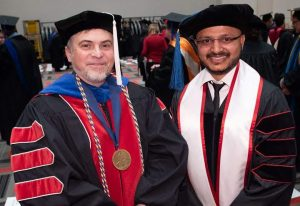 Sumit Das (right) with Dr. Dan Popa