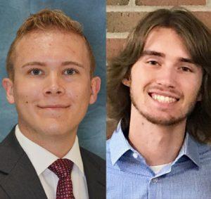 CSE student Noah Tongate and graduate student Jackson Paul (right).