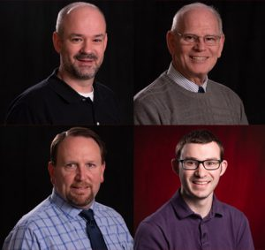 Pictured clockwise from top left: Brian Robinson, Gary Eisenmenger, Nick Hawkins and Jim Lewis.