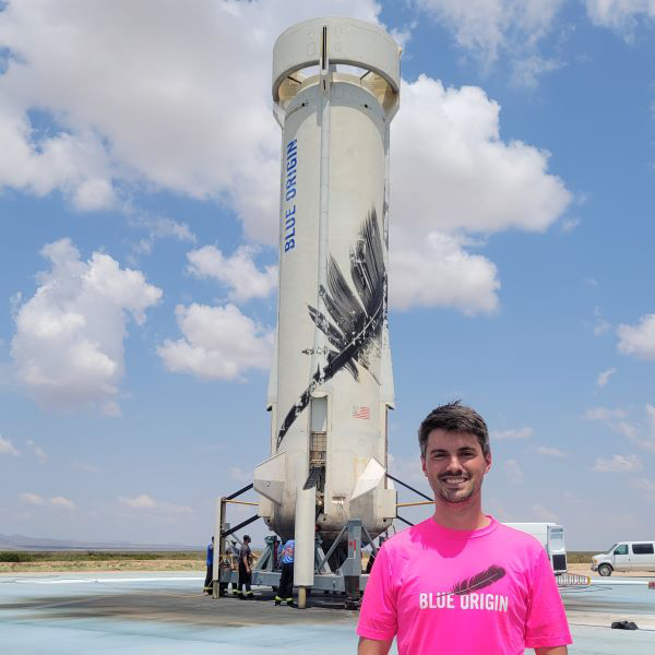 Mechanical engineering alumnus Gregg Blincoe works as a structural engineer for Blue Origin.